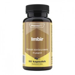 Pharmovit - Imbir, ekstrakt standaryzowany 5% gingeroli, 90 caps